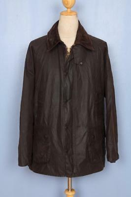Mens BARBOUR Bedale WAXED Jacket Brown Size 46