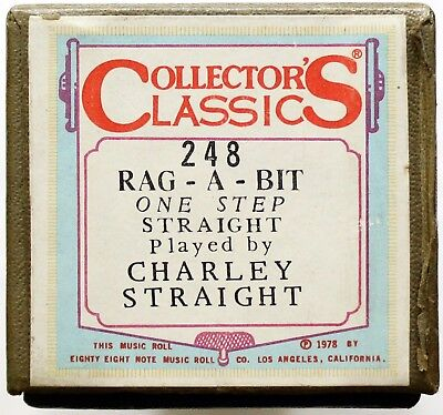 "CHARLEY STRAIGHT ""Rag-A-Bit"" COLLECTORS CLASSICS 248 [PIANO ROLL]"