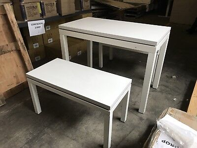 Shop Display tables - set of 3 (White)