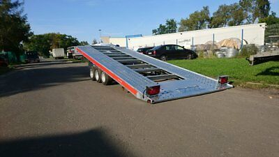 NEW CAR TRANSPORTER trailer flat bed 5m x 2.1m 16ft x 6ft 3500kg 10inch