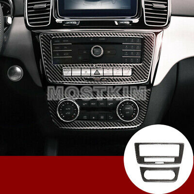 Carbon Fiber Console CD & AC Panel Cover For Benz GLE W166 /Coupe C292 2015-2018