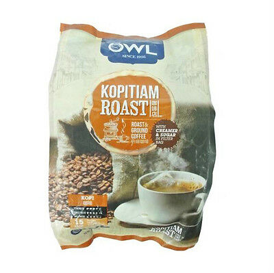 30S Source · 15 Sachets Owl Kopitiam Roast Coffee Bags Kopi 525G OWL010 .