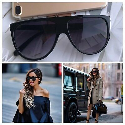 AYZA Oversize Thin Shadow Sonnenbrille Damen Blogger Fashion Katzenauge Schwarz
