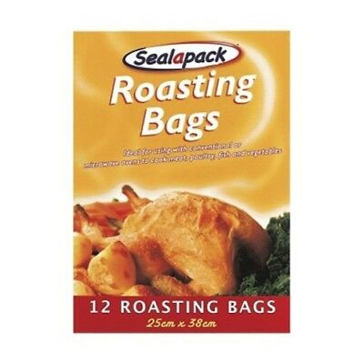 12 Large Roasting Bags Mircowave Oven Cooking Poultry Chicken Meat Fish