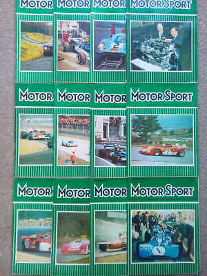 Vintage Motor Sport Magazines 1971 -Vol XLVII -Issues 1-12 -You Choose the Issue