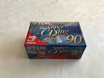 3x TDK 90 Super CDing / Super Avilyn / High Position IEC II / TYPE II/  New OVP
