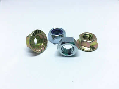 M10 Metric Fine 1.25 Hex Nut Hex Nyloc Nut Hex Flange Nut  High Tensile Class 8