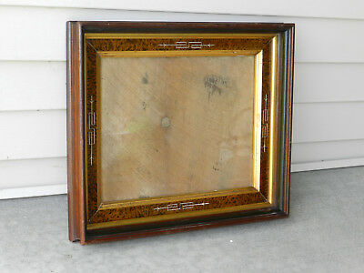 ANTIQUE EAST LAKE Walnut Spoon Carved Picture Frame Victorian 14 X ...