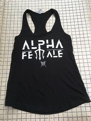 Ideal T by Next Level Alpha Female Size Large Alpha Female Shirt Top Tank Black