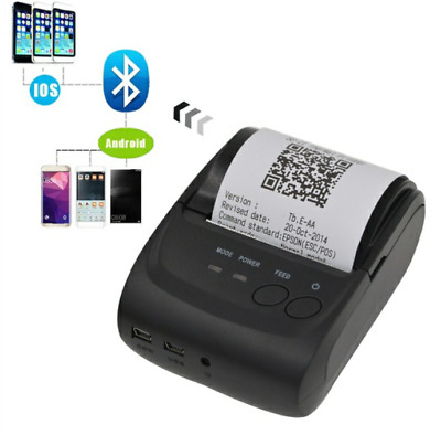 58mm USB Wireless Bluetooth 4.0 Portable Receipt Thermal Printer for IOS Android