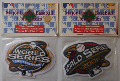 World Series 2001/2003 W/This MLB Licensed Collectibles Patches Set of 2 New