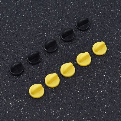 25 Pack Rubber Pin Backs Holder Clutch Badge Lapel Pin Tie Tacks Jewelry DIY