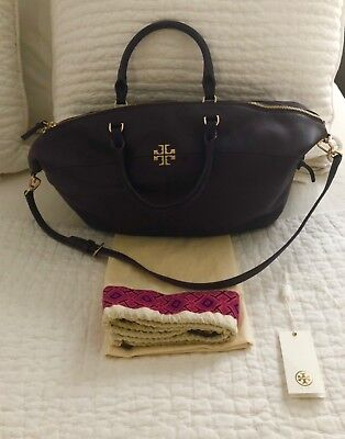 336800a56df TORY BURCH WOMEN S Ivy Side-Zip Leather Tote GG8 Bark One Size  525 ...