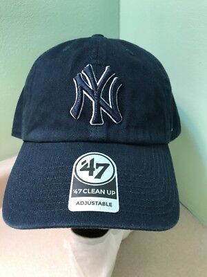 ba54998e49a ... cheap mlb 47 brand new york yankees clean up adjustable cap hat mens  one size navy