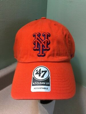 huge selection of 39b14 7e2f5 ... australia mlb 47 brand new york mets clean up adjustable cap hat mens  one size org