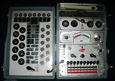 Seco Mutual Conductance Tube Tester Model 107 with original index flip chart