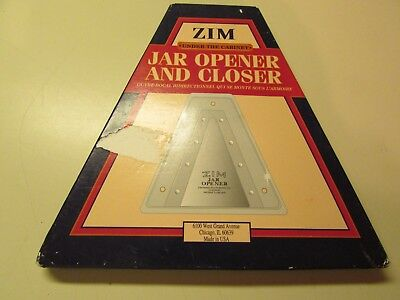 ZIM Steel Jar Opener & Closer 4 Restoration Hardware UNDER the CABINET USA, NIB