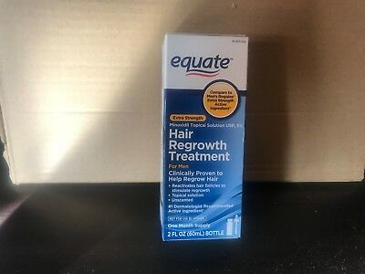 Equate Hair Regrowth Treatment for Men Minoxidil Topical Aerosol|5% Foam| 2 OZ