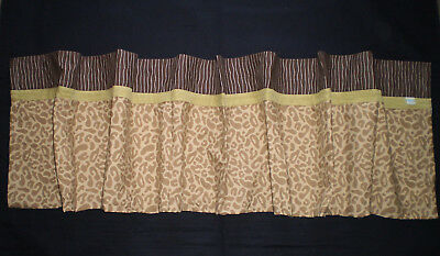Disney Lion King Animal Print Window Valance Baby Nursery Kids Room Brown Tan