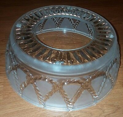 Vintage Frosted Glass 4 Chain Hole Ceiling Light Shade