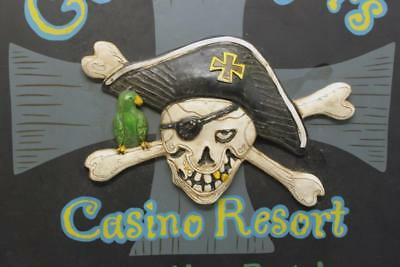 Gold Diggers Casino Resort Sign Watch your Booty! Skull & Crossbones Pirate Cool