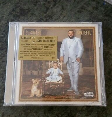 Grateful [Deluxe Edition] [PA] by DJ Khaled (CD, Jun-2017, 2 Discs, Epic) NEW