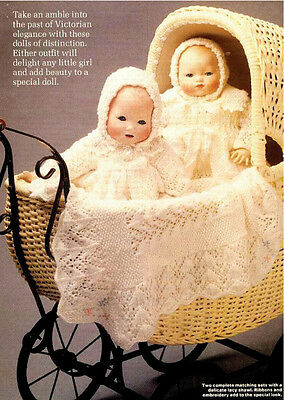 Vintage Knitting Pattern Copy - To Knit Victorian Baby Doll Layettes
