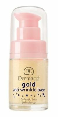 DERMACOL Make-Up Base Foundation Face Primer GOLD Anti wrinkle Anti aging 15 ml