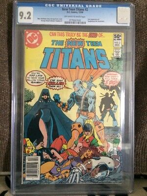 NEW TEEN TITANS # 2  CGC 9.2  KEY  1ST DEATHSTROKE First Appearance DC Batman