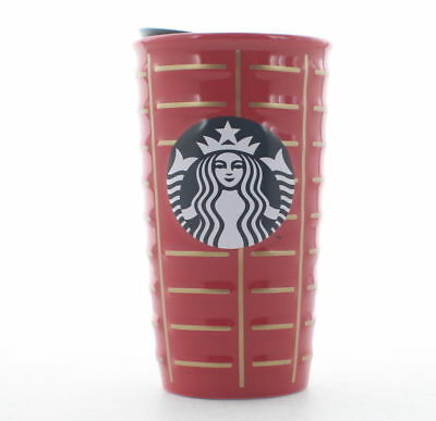 Starbucks 2016 Holiday Siren Ceramic Coffee Travel Tumbler Cup,10 oz. Red