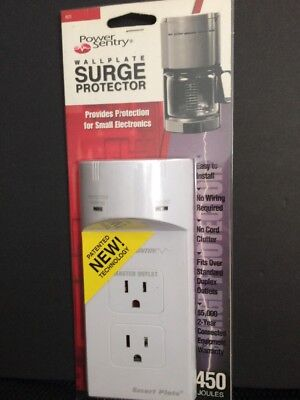 Sentry Wall Plate Surge Protector 450 Joules No Wiring