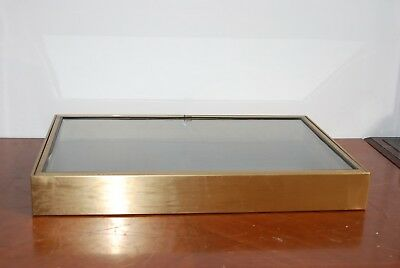 "Tabletop Booth Display Cases Non-Mag. Stainless Steel 23""x35""x4.25"" Lock"