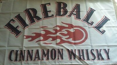 Fireball Cinnamon Whiskey Man Cave Flag banner 3x5Feet