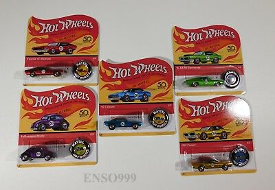 Hot Wheels 50th Anniversary Originals Redlines Complete Set w 67 Camaro replicas