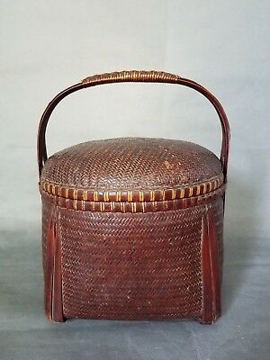 Stunning Vintage Chinese Wedding Basket Wicker