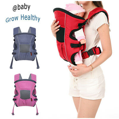 Cotton 3-in-1 Ergonomic Baby Newborn Infant Toddler Carrier Front Back 4 Colors