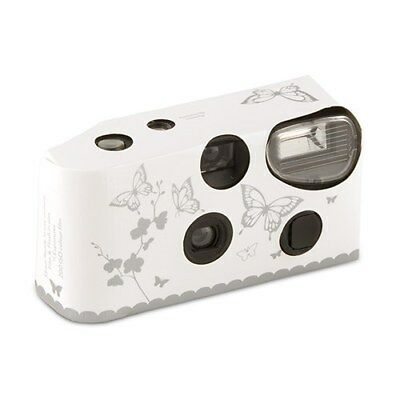 10 x Single Use Disposable Camera - Butterfly Garden White And Silver