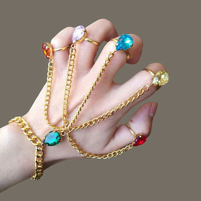 Cool Gift Thanos Gauntlet Hand Chain Bracelet Avengers The Infinity War Stones