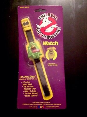 Vintage 1989 The Real Ghostbusters Slimer 3D Watch New In Package