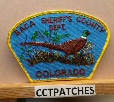 Baca County, Colorado Sheriff (Police) Shoulder Patch Co