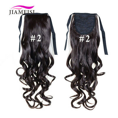 "22"" Long Curly Wave Bandage Synthetic Hair Extensions Women Hair Pieces 100g"