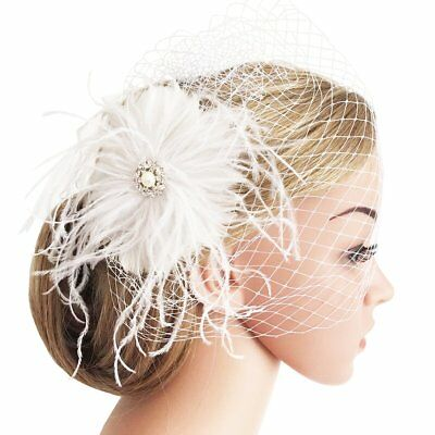 Fascinators Hair Clip Headband Feather Flower Veil Wedding Headwear Bridal