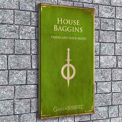 Game of Thrones House Baggins Home Decor Room HD Canvas Print Wall Art Painting