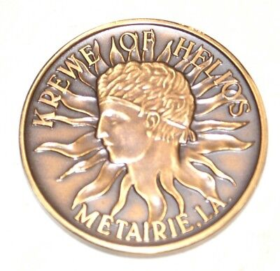 1970 Krewe of Helios King's Club BRONZE Doubloon - FREE SHIPPING