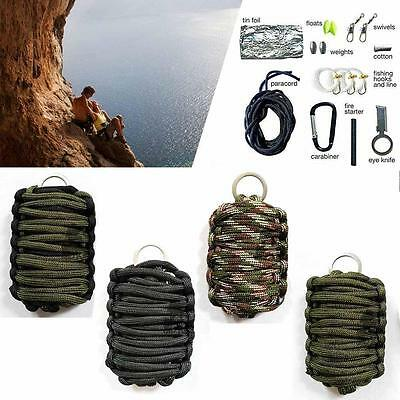 Camping Survival Paracord Multi Tool Kit Outdoor Sport Fishing Hiking Hunting GL