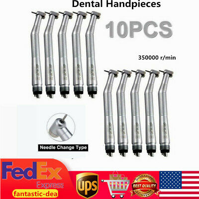 Sale 10 NSK Style Dental High Speed Handpieces Push Button Type 4 H Turbine US