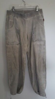 NEW Hard Tail THICK Material SWEAT PANTS medium OMBRE Olive Color
