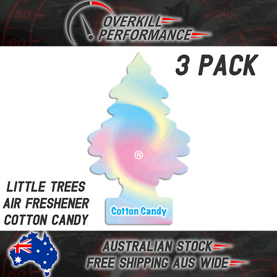 Little Trees Air Freshener Cotton Candy x 3 (3 Pack), Car Truck Taxi Home Office