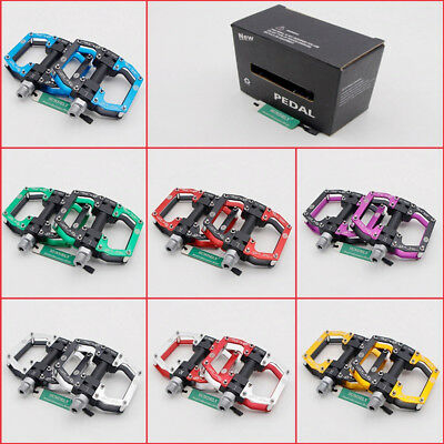 AU CNC Aluminum alloy MTB Mountain Road Bike Bicycle Pedals 9/16'' Flat Platform