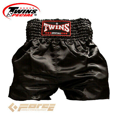 Boxing Shorts Pants TWINS Pro Muay Thai Kick Boxing Black TB-30